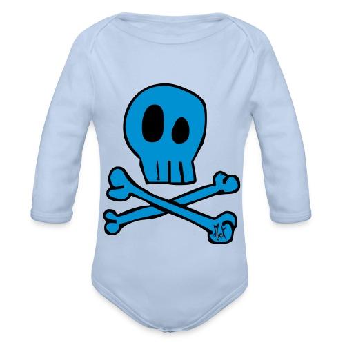 Little Skull McKoy Con Relleno - Body orgánico de manga larga para bebé