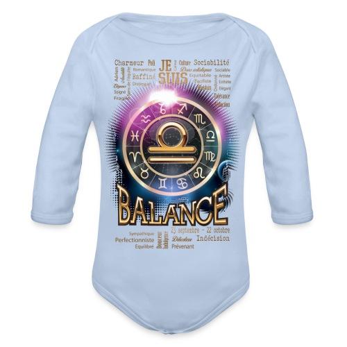 BALANCE - Body Bébé bio manches longues
