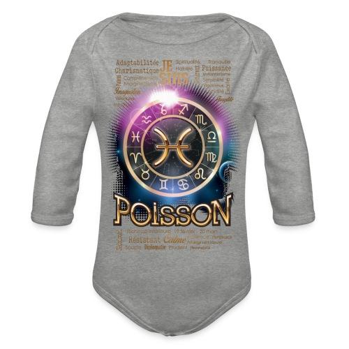 POISSONS - Body Bébé bio manches longues