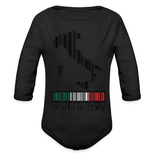 Made in Italy - Body ecologico per neonato a manica lunga