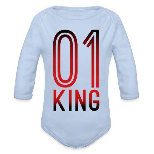 King Hoodie - Baby Bio-Langarm-Body