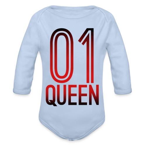 Queen Hoodie - Baby Bio-Langarm-Body
