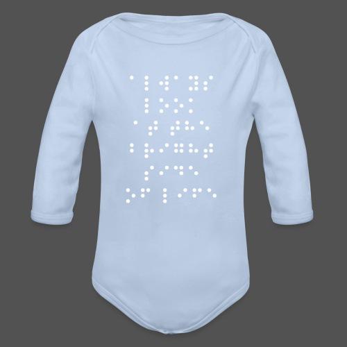 Braille fashion - Baby bio-rompertje met lange mouwen