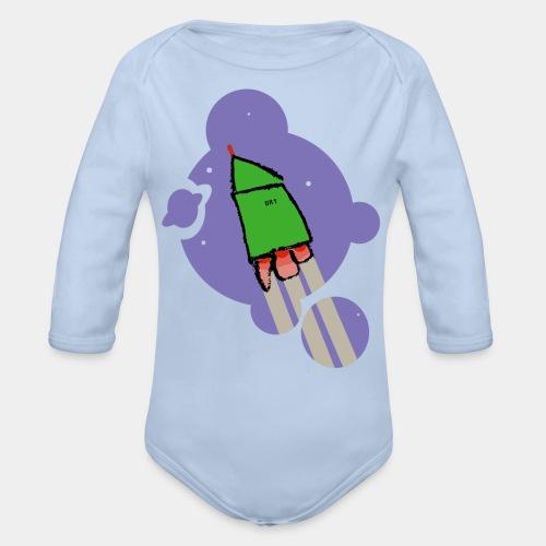 Cohete camiseta pantone - Body orgánico de manga larga para bebé