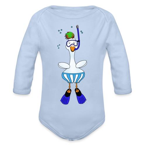 Snorkel Duck - Organic Longsleeve Baby Bodysuit