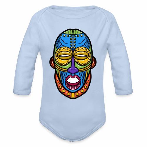 Máscara - Body orgánico de manga larga para bebé