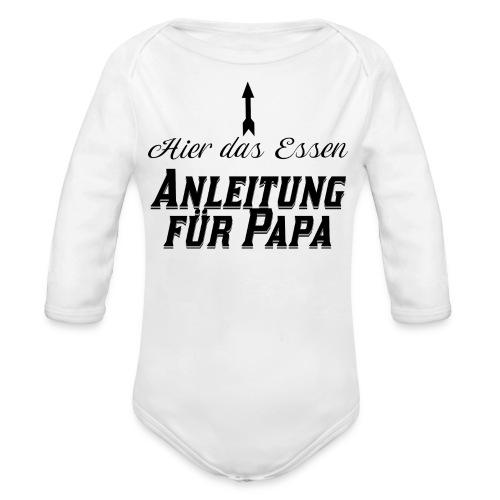 Hier das Essen Anleitung für Papa Baby Geschenk - Baby Bio-Langarm-Body