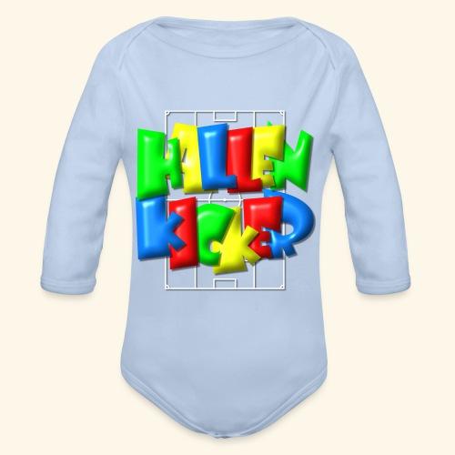 Hallenkicker im Fußballfeld - Balloon-Style - Baby Bio-Langarm-Body