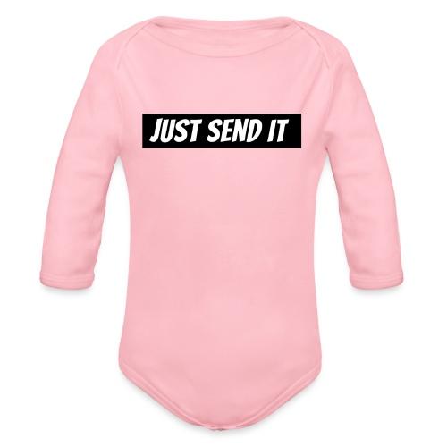 just send it logo - Organic Longsleeve Baby Bodysuit