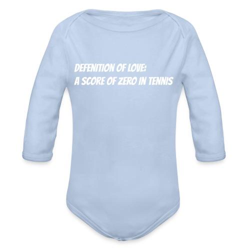 Tennis Love sweater woman - Baby bio-rompertje met lange mouwen