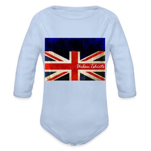 Brittish Flag - Ekologisk långärmad babybody