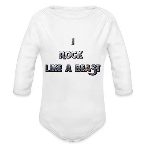Irocklikeabeast Logo - Ekologisk långärmad babybody