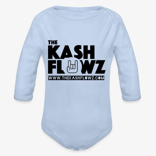 The Kash Flowz Official Web Site Black - Body bébé bio manches longues