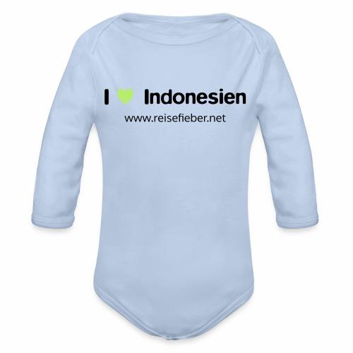 I love Indonesien - Baby Bio-Langarm-Body