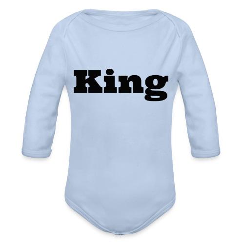 Snapback king rood/zwart - Baby bio-rompertje met lange mouwen