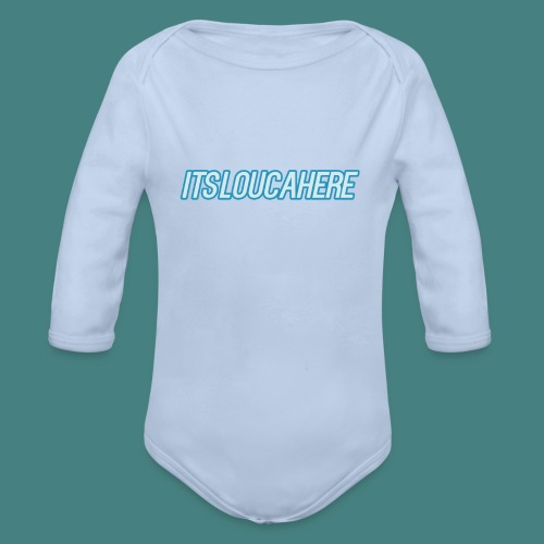 new font - Organic Longsleeve Baby Bodysuit