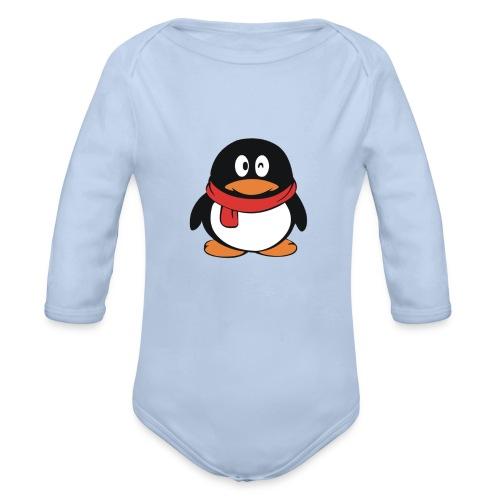 pinguinlog png - Baby bio-rompertje met lange mouwen