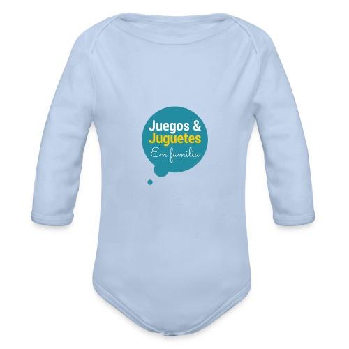 Logo Juegos y Juguetes en Familia - Body orgánico de manga larga para bebé