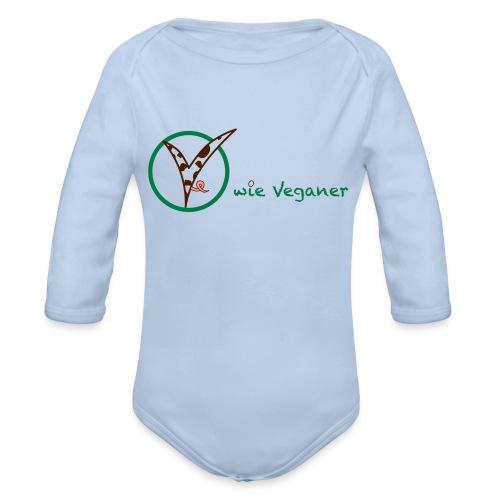 V wie Veganer - Baby Bio-Langarm-Body