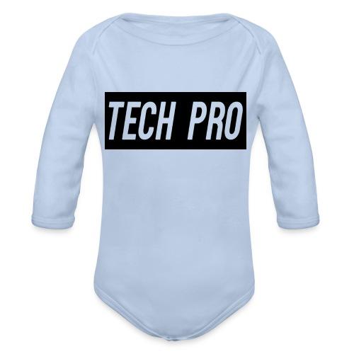 Tech Pro Official Logo - Organic Longsleeve Baby Bodysuit