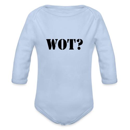 Wot? Logo - Organic Longsleeve Baby Bodysuit