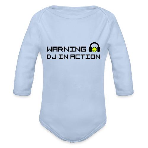 Warning DJ in Action - Baby bio-rompertje met lange mouwen