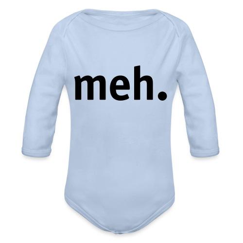 meh. - Organic Longsleeve Baby Bodysuit