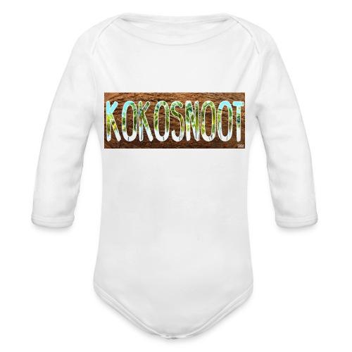 Kokosnoot - Baby bio-rompertje met lange mouwen