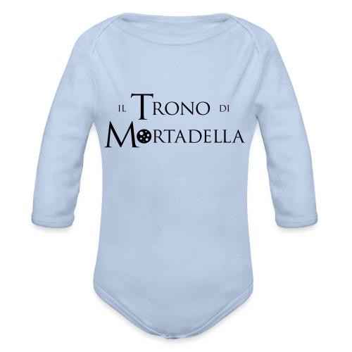 Grembiule Il Trono di Mortadella - Body ecologico per neonato a manica lunga
