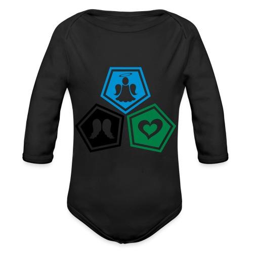 Tee shirt baseball Enfant Trio ange, ailes d'ange - Organic Longsleeve Baby Bodysuit