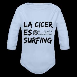 La Cicer es surfing - Body orgánico de manga larga para bebé