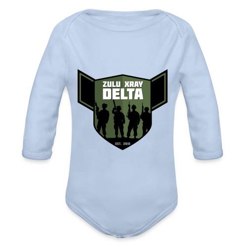 Zulu X-Ray Delta Logo - Organic Longsleeve Baby Bodysuit