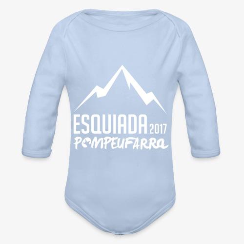 Esquiada Pompeufarra 2017 white - Body orgánico de manga larga para bebé