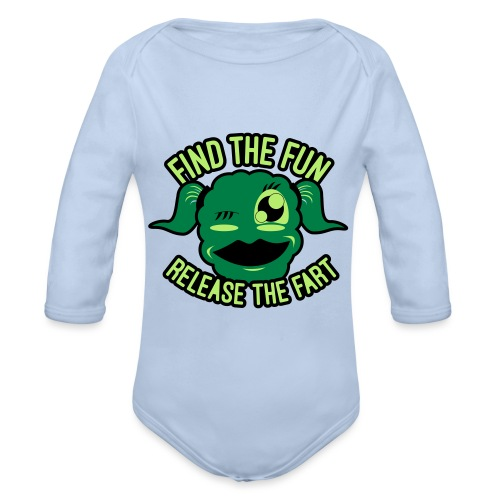 #GirlsOnly: Find The Fun - Release the Fart - Langærmet babybody, økologisk bomuld