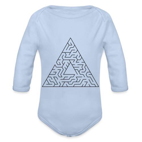 Triangle Maze - Organic Longsleeve Baby Bodysuit