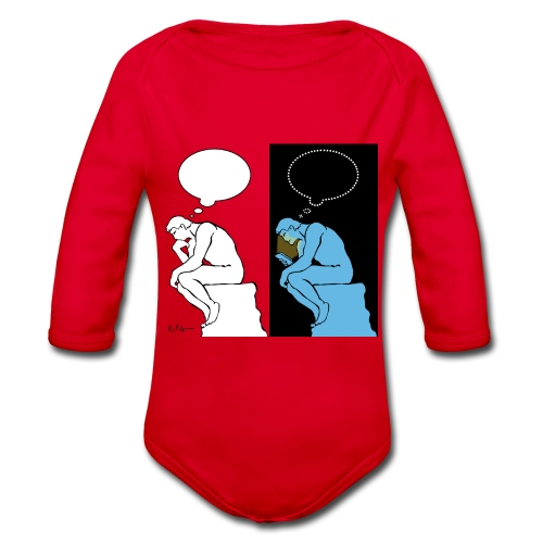 The Thinker - Organic Longsleeve Baby Bodysuit