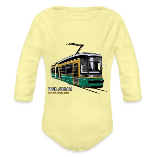 Helsingin Raitiovaunu T-paidat, 154 upeaa tuotetta - Vauvan pitkähihainen luomu-body
