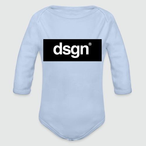 DSGN_02_WHITE - Baby bio-rompertje met lange mouwen