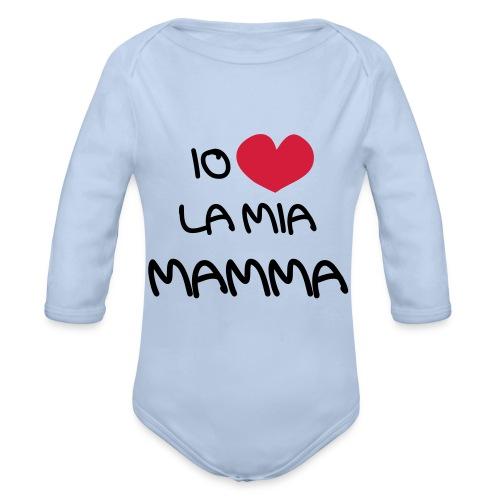 Io Amo La Mia Mamma - Body ecologico per neonato a manica lunga