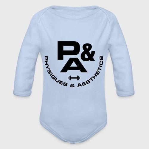 CAMISETA AJUSTADA P&A BLANCO - Body orgánico de manga larga para bebé