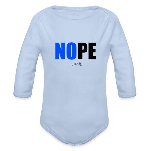 NOPE - Body bébé bio manches longues