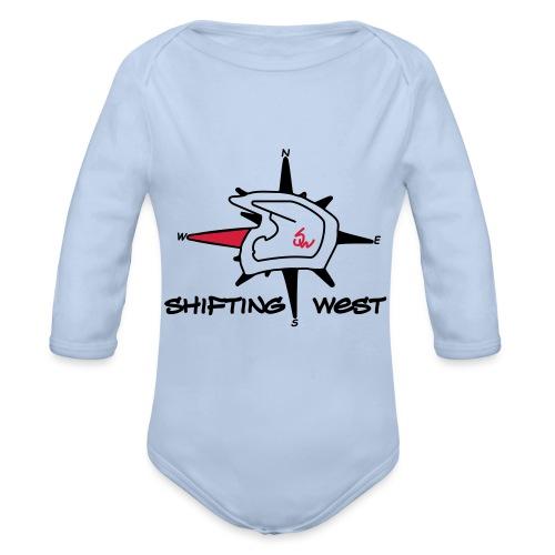 Shifting West Logo vector - Baby bio-rompertje met lange mouwen
