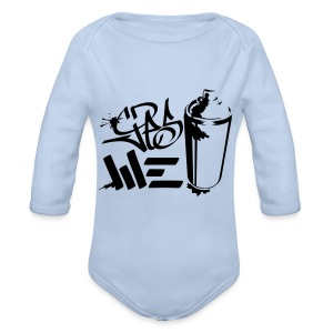 Yes We (spray)Can Graffiti handstyle tag - Baby Bio-Langarm-Body