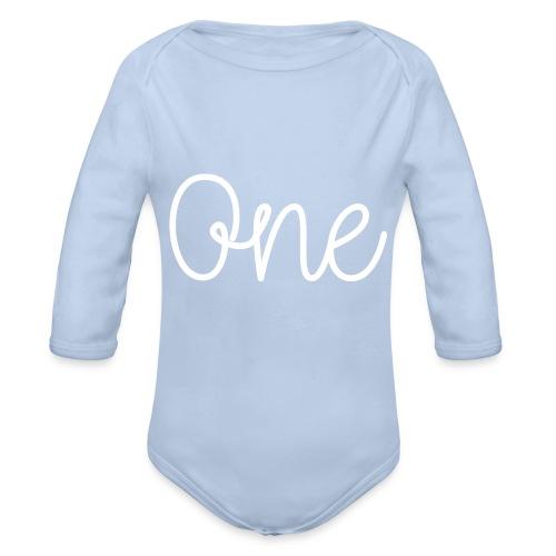 One years - Organic Longsleeve Baby Bodysuit