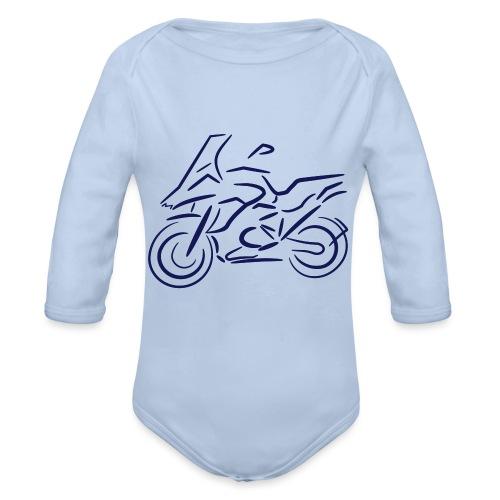 Motorrad Fahrer, Bike, Biker, 1200 - Baby Bio-Langarm-Body