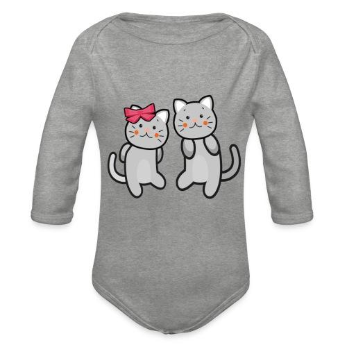 Kotki - Ekologiczne body niemowlęce z długim rękawem