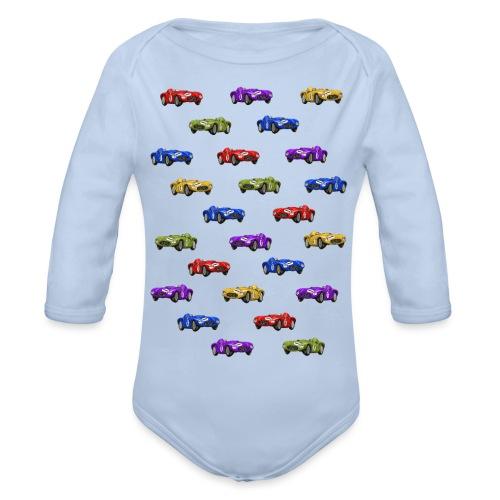 Happy Cars Selection - Ekologisk långärmad babybody