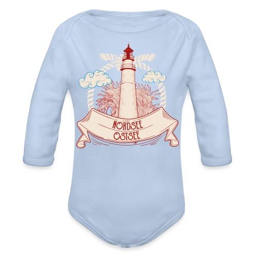 Leuchtturm Nordsee Ostsee - Baby Bio-Langarm-Body