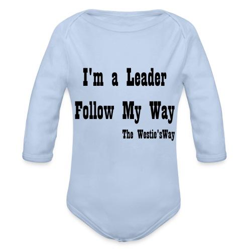 Follow My Way Black - Ekologiczne body niemowlęce z długim rękawem