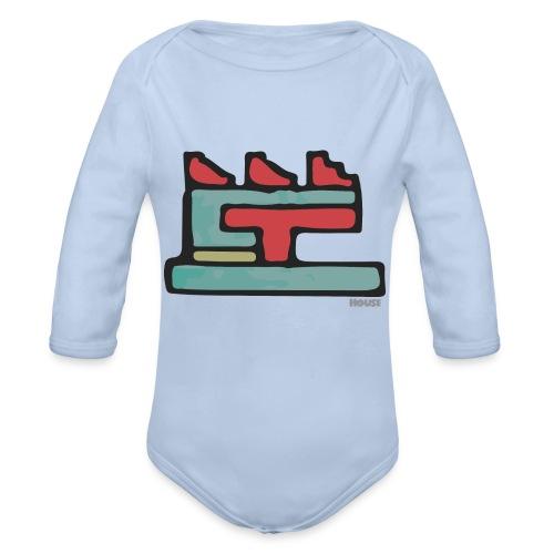 Aztec Icon House Night - Organic Longsleeve Baby Bodysuit
